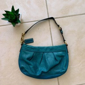 Green Coach small leather shoulder bag